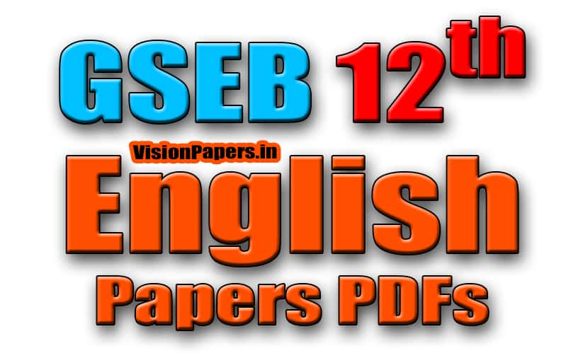 GSEB 12th Science English Papers